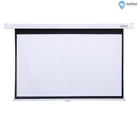 4World Ekran projekcyjny ścienny 221x124 (100'',16:9) Matt White