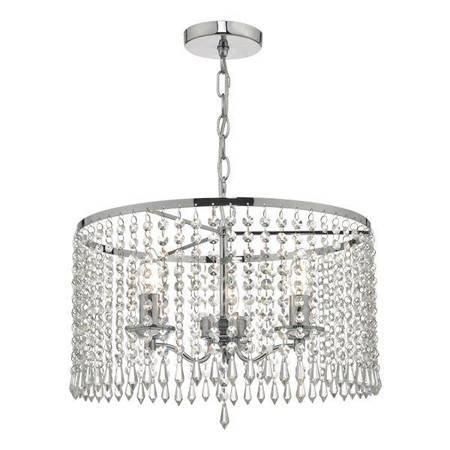 JOCELYN 3LT Lampa Sufitowa ISHED Nikiel Motyw Kryształowy