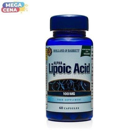 Kwas Alfa-liponowy 100 mg Produkt Wegański 60 Kapsułek