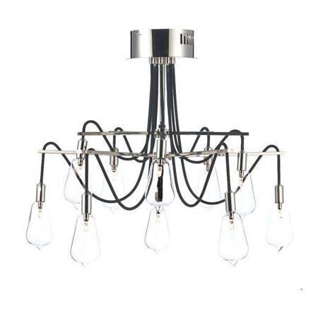 SCROLL 10LT Lampa Sufitowa Nikiel