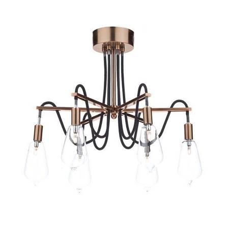 SCROLL 6LT Lampa Sufitowa Miedź