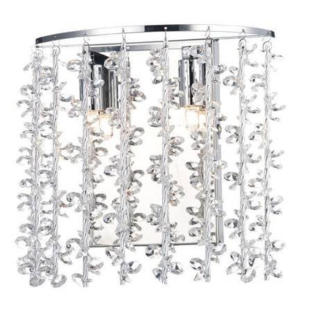 SESTINA 2LT Lampa Ścienna Aluminium Motyw Kryształowy RODS