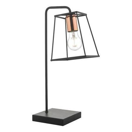 TOWER Lampa Stołowa Kolor Czarny Miedź