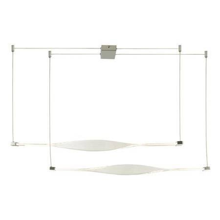 TWIST 2LT BAR Lampa Sufitowa Akrylowe Kolor Srebrny LED