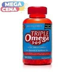 Potrójny Kwas Omega 3-6-9 dla Pescowegetarian 120 Kapsułek Żelowych
